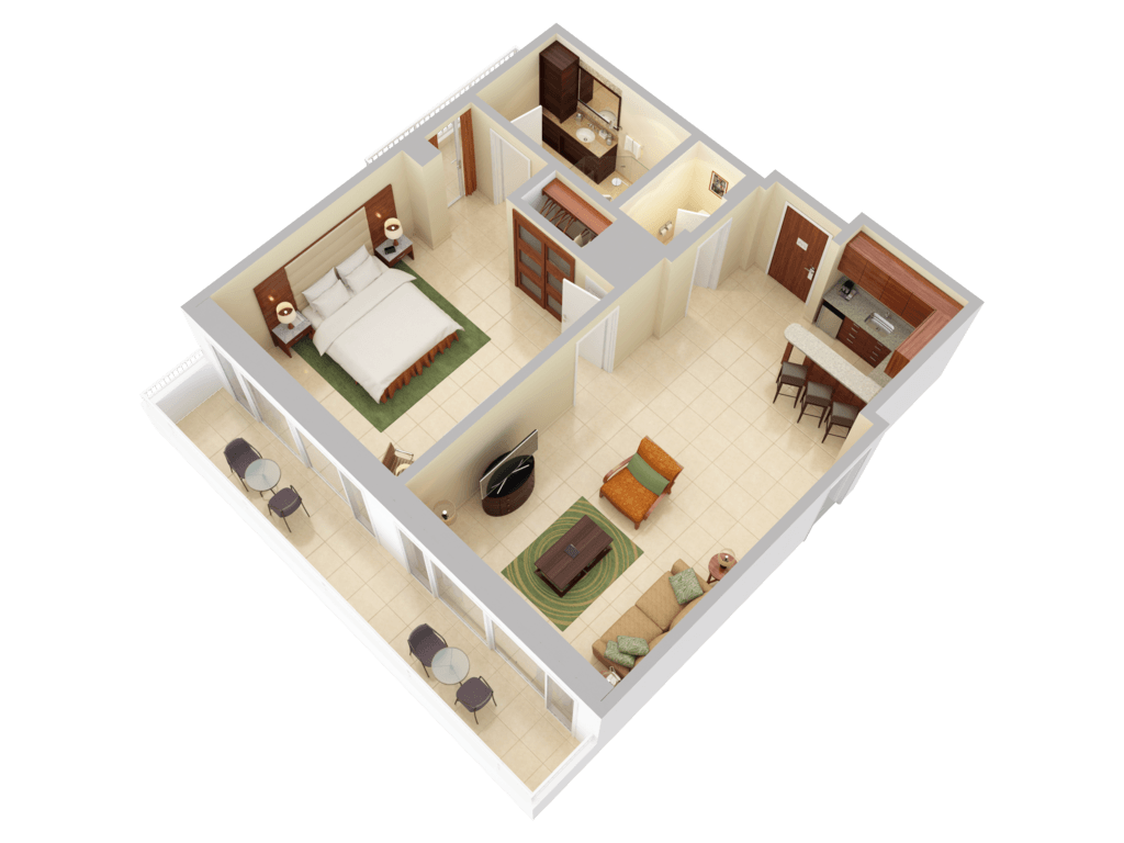 3d floor plans caribe hilton san juan for 3d floor plan