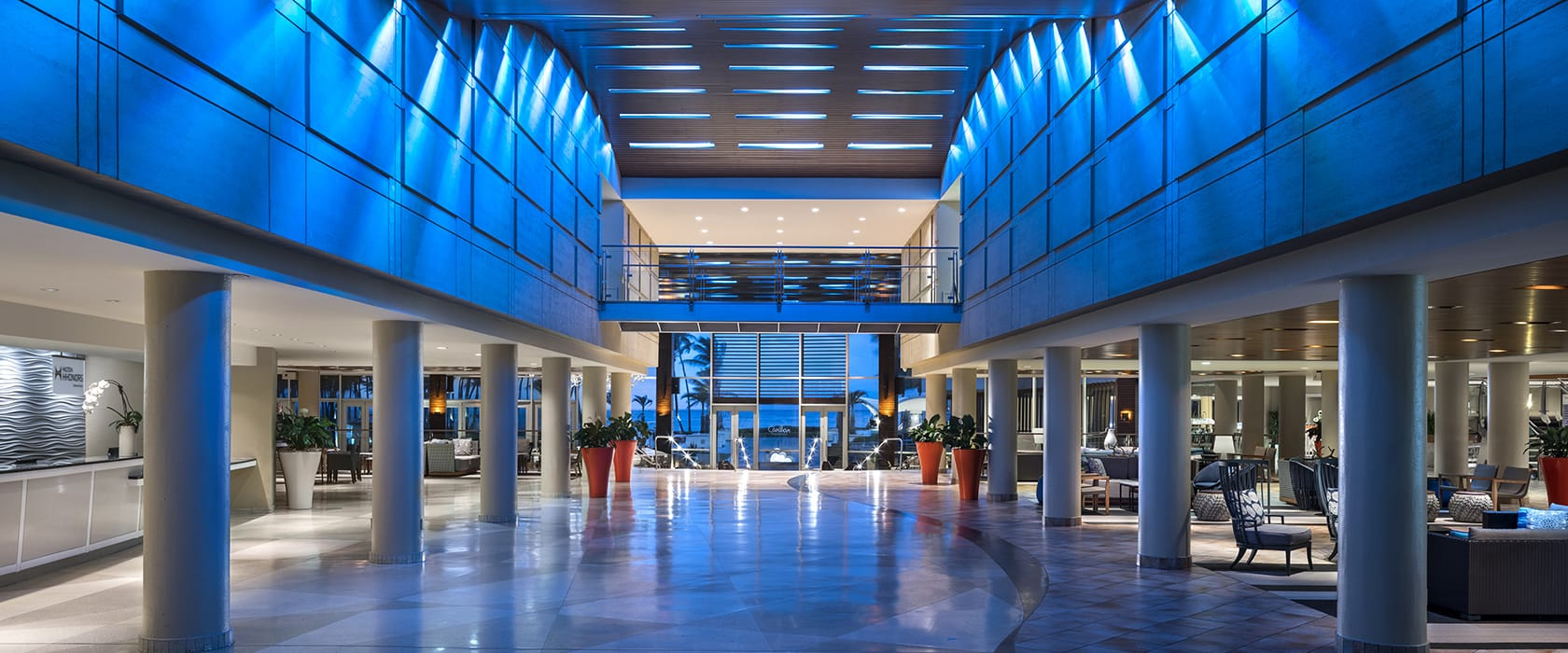 caribe hilton lobby entrance